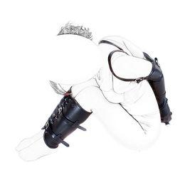 Wholesale Hand Leg Bondage - Fetish Bondage Restraint Kits Arm Cuff & Leg Binder Hand Wrist Ankle Bound Slave Restraint Set PU Leather Role Play Sex Products q0506