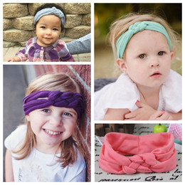 Wholesale Braiding Hair For Sale - Cheap Elastic Hair Bands Braided Headbands Infant Toddler Cotton Fashion Hair Bands Accessories for Baby Girls 16 Colors On Sale