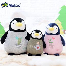 Wholesale Penguin Christmas Decorations - Metoo Penguin Baby Plush Doll Baby Boys Girls Sleeping Toys Cute Stuffed Penguin Dolls Kids Children Gift Home Car Decoration