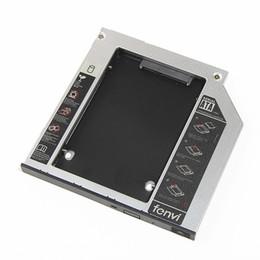 Toptan-5 adet / grup 9.5 MM SATA optik yuvası Sabit Disk 2nd HDD Caddy Alüminyum Kasa Muhafaza Adaptörü Laptop Için CD DVD Optik Sürücü Bay nereden