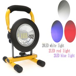 Wholesale Car Cordless - Wholesale-IP65 3 Modes 24LED Floodlight 30W Portable Rechargeable Cordless Flood Light Emergency for Car Traveling Camping Fishing Use