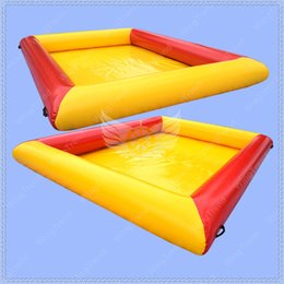 Wholesale Pool Inflatable Slides - 4m by 3m Red and Yellow Inflatable Water Pool for Kids,0.6mm PVC Tarpaulin Material Soap Pool