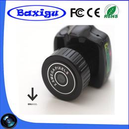 Wholesale Mini Pc Web Cam - 2017 Hot Sale Y2000 Mini Smallest Spy hidden Camera 720*480 Mini Pocket DV DVR Portable Camcorders Micro Digital Recorder USB PC Web Cam