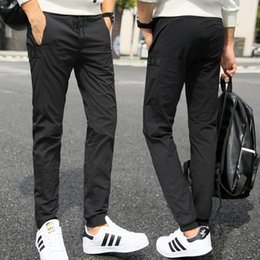 Wholesale Men S Satin Pants - Hot sale Summer youth stretch outdoor sports male casual pants trousers Slim fashion PM008 Men's Pants
