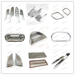 Wholesale Door Sills - Car Styling ABS Reading lights decorative frame and Interior rear view mirror frame Trim Accessories For honda CRV 2015 chrome Stick