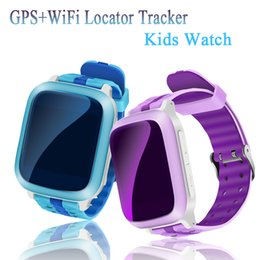 Wholesale Wrist Watch Gps Locator - Kids Smart Watch Child GPS Watch Phone DS18 Sim Card WiFi Locator Tracker Anti-Lost Wristwatch For iOS Android Children PK GT08