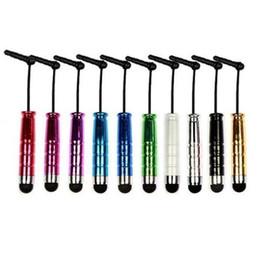 Canada Mini stylet à écran tactile stylo avec prise anti-poussière avec 10 couleurs pour ipad iphone pour samsung capacitance écran téléphone tablette pc Fedex DHL gratuit Offre