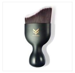 Wholesale Face Loose Powder Brush - HUAMIANLI Brand Face Liquid Foundation Brush S Shape Naked Makeup Brushes Loose Powder Brush Functional Make Up Tools Brush Set