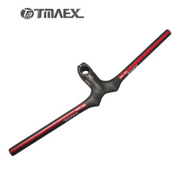 Wholesale Cycling Handlebars Stem Carbon - TMAEX- Carbon Handlebar+Stem Mtb Cycling Handlebars Carbon Bar Flat Integrated Handle bar Bicycle accessoires Red 3K Matte