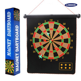 Wholesale Target Darts Wholesale - Safety Magnetic Dart Board Darts Indoor Sport Double Side Target 4 Darts 6 Darts 12 15 17 Inch with Retail Package