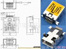 Wholesale Usb Plug Pcb - MICRO USB 10P Female plug pin 4pin Fixed PCB ,Tail Charging socket,new and original