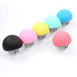 2019 ipad handfree Gros-champignon sans fil Bluetooth Mini haut-parleur champignon d'aspiration de silicium à main libre lecteur de musique pour iPhone 5s 5SE pour ordinateur portable ipad ipad handfree pas cher