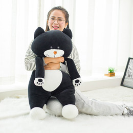 Wholesale Soft Toy Drop Shipping - 60 75cm Cute black cat plush Toys 2017 New Style Stuffed comfy Soft plush gray cat cloth doll animals toys Drop shipping