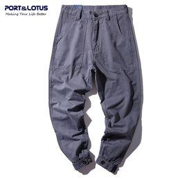 Wholesale Men S Brands Harem Pants - Wholesale- PORT&LOTUS Brand Jeans Men Solid Harem Pants 100% Cotton Mens Haren Jeans Full Length Men's Clothing YP009 5087