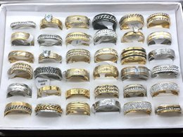 Wholesale Silver Gemstone Jewelry Settings Wholesale - Wholesale Lot 30pcs Mix Style Men's Women's Fashion Gemstone Wedding Ring Engagement Ring Jewelry Gift Ring