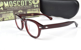 Wholesale Glasses Case Vintage - 2017 Brand design Moscot lemtosh eyewear johnny depp glasses top Quality brand round eyeglasses frame with Arrow Rivet 1915 with case
