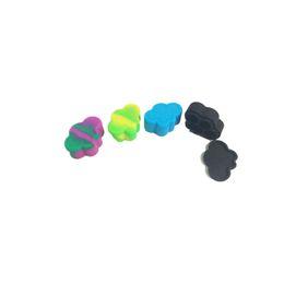Wholesale Moq Piece - Cheapest Nogoo Silicone Wax Dab Containers 22 Ml Oil Slicks 4 Cavity Cloud Non Stick Jar MOQ 1 Piece