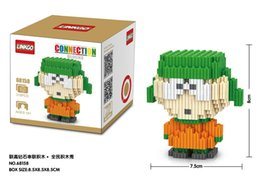 Wholesale Style Connections - 5 styles Linkgo Connection Blocks DIY Building Bricks South Park Action Figures Model Toys Brinquedo 3D bad luck man Anime Kids Toys 68158