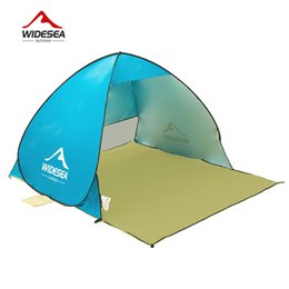 Wholesale Blue Shelter - 2017 Beach Tent Pop Up Open 1-2 Person Quick Automatic Open 90% Uv Protective Sun Shelter Awning Tent for Camping Fishing Equipment