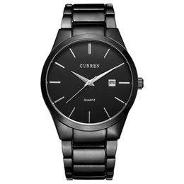 Wholesale Mens Curren Waterproof Watches - CURREN 8106 Luxury Brand Simple Fashion Casual Business Watches Men Date Waterproof Quartz Mens Watch Business Male Wristwatch
