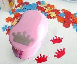 Wholesale Eva Diy Crown - Wholesale- free ship 1'' Crown paper cutter scrapbooking punches paper punch eva foam punch child diy craft punch scrapbook S293714