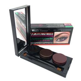 Wholesale Eyeliner Palette - Wholesale- 2016 Music Flower Brand Makeup Eyeliner Gel & Eyebrow Powder Palette Waterproof Smudgeproof Eye Brow Enhancers Cosmetics #M3052