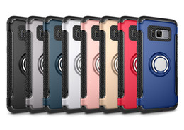 Wholesale Rubberized Phone Covers - For redmi 4X 4A note 3 rubberized oil 360 degree car holder ring extracted magnet phone covers for IphoneX 7 Iphone 7plus 6S
