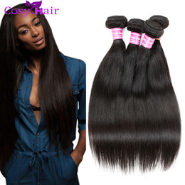 Wholesale Cheap Wholesale Hair Pieces - Brazilian Straight Virgin Human Hair Weave Bundles Brazilian Mink Weft Brazilian Cheap Remy Human Hair Extensions Inches
