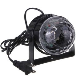 Wholesale Remote Control Usa - Sound Activated LED Party Lights with IR Remote Control Dj Lighting, RBG Disco Ball, Strobe Lamp 7 Modes Stage Par Light