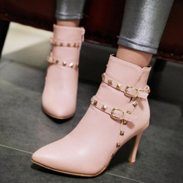 Wholesale Elegant Wedding Boots - fashion women elegant and cool martin booots ankle boots stelitto heel boots for wedding party and night clubs SCP072