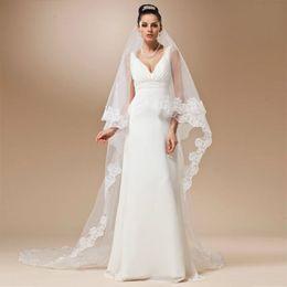 Wholesale mantilla cathedral length veil - Don's Bridal 2016 Real Long Lace Cathedral Wedding Veil 2.6 Meter Accessories Voile Mariage Mantilla Vail Velos De Novia