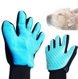 Wholesale Dog Glove Hair Brush - Pet Grooming Gloves Pet Massage Bathing Brush Comb for Dog Cat Hair Removal Grooming Supply Bath Glove for remove hair KKA2869