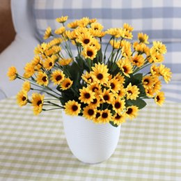 Wholesale Sunflower Display - 1 PCS Artificial Small Sunflower Silk Flower Home Party Decoration F216