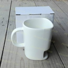 Wholesale White Ceramic Cups - 2017 New Ceramic Biscuit Cups Coffee Cookies Milk Dessert Cup Tea Cups Bottom Storage Mugs for Cookie Biscuits Pockets Holder Kids Cups