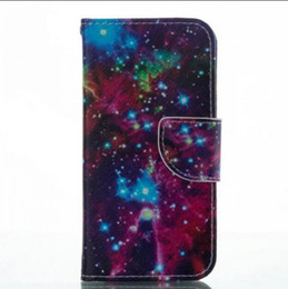 Wholesale Iphone Abstract - Abstract Water Design Pu Leather Flip Stand Wallet Card Slots Wrist Pouch Cover Case for iphone 7 8 samusng s7 s8 top quality