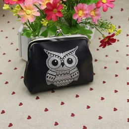 Wholesale Owl Wallets Sale - Wholesale- RU&BR Hot Sale Womens Owl Pattern Coin Purse Lady Change Purse Patent Leather Coin Wallet Female Money Bag Wallet