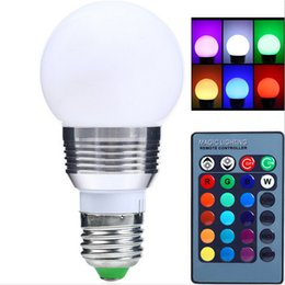 Wholesale 3w 16 Colors - AC85V-265V E27 E14 dimmer LED RGB Bulb Candle lamp 5W 7W LED RGB Spot light magic Holiday lighting+IR Remote Control 16 colors