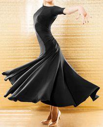 Wholesale Red Ballroom - New Elegant Ballroom Dance Dress Modern Waltz Standard Competition Black Dress B06