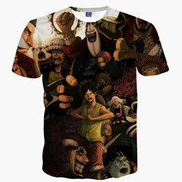 Wholesale One Piece Luffy Shirt - Anime One Piece 3D T-shirt Monkey D Luffy Shanks Law JINBEI Buggy Printed Harajuku Men Summer T shirt Tee Tops Camisetas Hombre