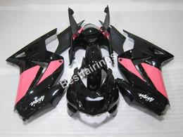 Wholesale Pink Kawasaki Fairing Kits - Hot sale plastic Fairing kit for Kawasaki Ninja 250R 2008-2014 pink black fairings EX250 08 09 10 11 12 13 14injection mold