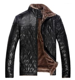 Wholesale Male Wool Clothes Fashion - Fall-Men's Clothing Winter Casual Leather Jackets And Coats For Man Solid Color Suit Collar Faux Leather Jacket Male PU & Fur Coat