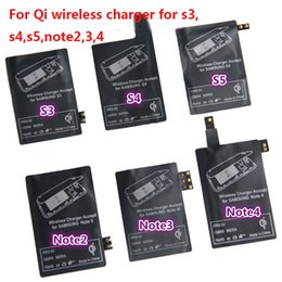 Wholesale Note2 Charger - Qi Wireless Charger Receiver Charging Adapter Receptor Receivers Pad Coil For Samsung Galaxy S3 S4 S5 i9500 i9600 Note2 Note3 Note4 N7100