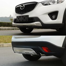 Wholesale Mazda Cx5 - 2pcs Stainless steel Front and Rear Bumper Skid Protector Plate cover for Mazda CX-5 CX5 2012 2013 2014 2015 2016 year