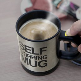 Wholesale Self Mixing Cup - Factory Outlets Self Stirring Coffee Cup Mugs Electric Coffee Mixer Automatic Self-Stirring Mug Mixing Drinking Cups 400ml