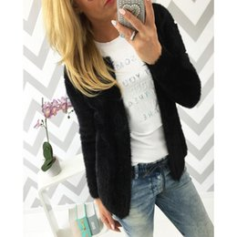 Wholesale Cardigans Women Wholesale - Wholesale- Casual Sweater Women Cardigan Long Sleeve Knitted Sweaters Female Casual Solid Color Outwear fashion Slim Woman Tops