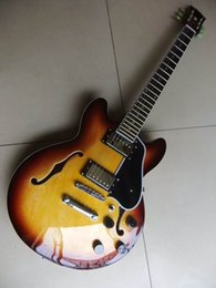 Wholesale Es Semi Hollow - Wholesale- New China Electric Guitar Semi Hollow JAZZ ES 339 In Sunburst 110902