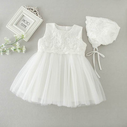 Wholesale New Girl Long Gowns - Retail 2016 AUutmn New Newborn Baby Girls Princess Dress Birthday Party Formal Christening Gown Lace Long Sleeve Dress 0-2T 9605