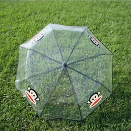 Wholesale Clear Mushroom Umbrellas - Umbrella Girl Clear Stylish Simplicity Deep Dome Apollo Transparent Umbrella Mushroom Umbrella Bubble Rainproof Rain Sun Women