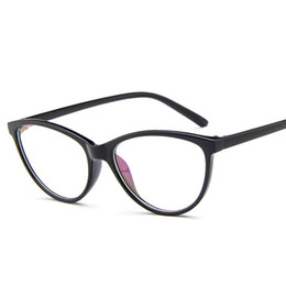 Wholesale Grade Spectacle Frame - Wholesale- Female Grade Glass Frame Of Spectacles Frame With Clear Lens Cat Eye Full-Rim kly2363