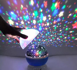Wholesale Child Room Projector - Lighting Lamp 4 LED Bead 360 Degree Romantic Room Rotating Cosmos Star Projector for Children,Baby Bedroom,Christmas Gifts,Blue LLFA
